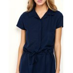 best Drawstring Mini Casual Dress With Short Sleeve