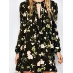 best Floral Print Long Sleeve Swing Dress