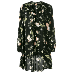 Floral Print Long Sleeve Swing Dress deal