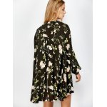 Floral Print Long Sleeve Swing Dress photo