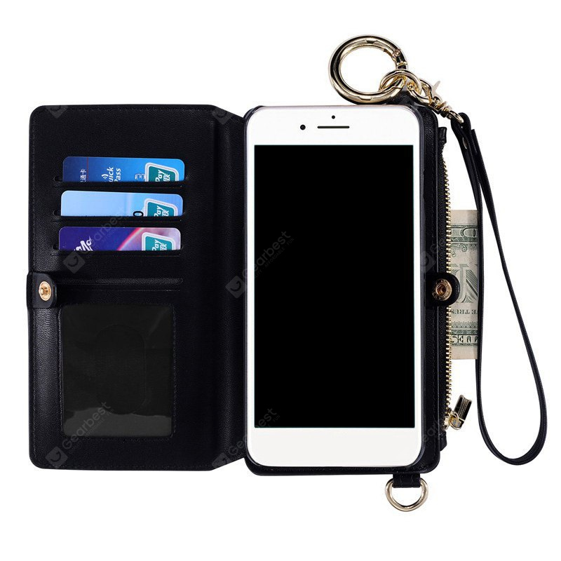 Multifounction Faux Leather Card Slot Flip Wallet Case iPhone-16.40 Online Shopping GearBest.com