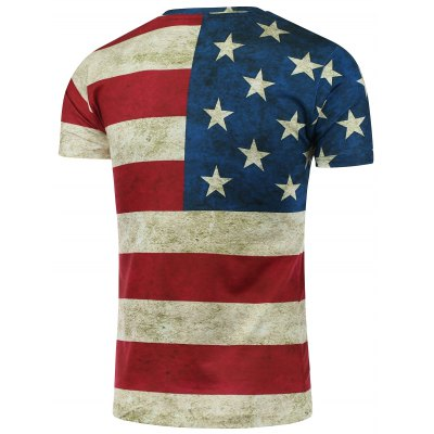 Short Sleeve Crew Neck Distressed American Flag T-ShirtMens Short Sleeve Tees<br>Short Sleeve Crew Neck Distressed American Flag T-Shirt<br><br>Collar: Crew Neck<br>Material: Polyester<br>Package Contents: 1 x Tee<br>Pattern Type: Striped<br>Sleeve Length: Short<br>Style: Fashion<br>Weight: 0.2430kg