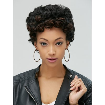 Adiors Pixie Ultrashort Fluffy Curly Synthetic Wig