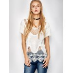 Scalloped Caged Crocheted Lace Cover Up
