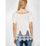 Scalloped Caged Crocheted Lace Cover Up deal