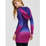 Pullover Ombre Ruched Tunic Hoodie for sale