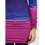 best Pullover Ombre Ruched Tunic Hoodie
