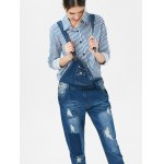 cheap Hole Design Plus Size Denim Overalls