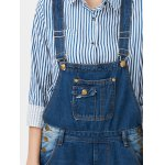 Hole Design Plus Size Denim Overalls photo