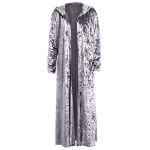 Open Front Maxi Velvet Coat deal