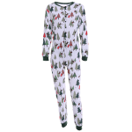 Christmas Tree Print Footed Pajamas deal