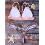 Trendy Python Pattern Crochet Bikini Set For Women deal