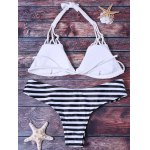 Alluring Strappy Hollow Out Bikini Set For Women deal