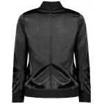 Stand Neck Satin Thin Fall Bomber Jacket deal