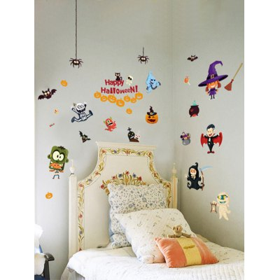 Home Decor Cartoon Halloween Wall Removable StickersWall Stickers<br>Home Decor Cartoon Halloween Wall Removable Stickers<br><br>Feature: Removable<br>Functions: Decorative Wall Stickers<br>Material: PVC<br>Package Contents: 1 x Wall Sticker<br>Size(L*W)(CM): 115*75<br>Theme: Words/Quotes<br>Wall Sticker Type: Plane Wall Stickers<br>Weight: 0.5540kg