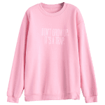 Jewel Neck Letter Pattern Sweatshirt photo