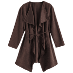 Faux Suede Wrap Duster Coat deal
