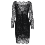 Backless Lace Mini Bodycon Short Dress deal