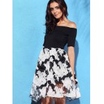 Fashion Off-The-Shoulder Fit and Flare Women's Dress deal