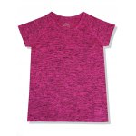 Active Style Round Neck Short Sleeves Space Dye T-Shirt For Women deal