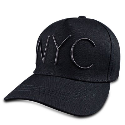 Capital Letter Shape Embellished Hip Hop Black Baseball Cap