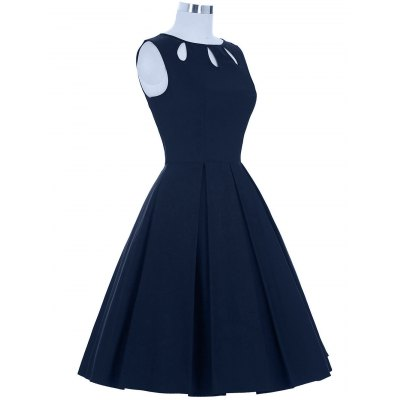 Cut Out Skater DressSleeveless Dresses<br>Cut Out Skater Dress<br><br>Dresses Length: Knee-Length<br>Embellishment: Hollow Out<br>Material: Polyester<br>Neckline: Round Collar<br>Package Contents: 1 x Dress<br>Pattern Type: Solid<br>Season: Summer<br>Silhouette: A-Line<br>Sleeve Length: Sleeveless<br>Style: Brief<br>Weight: 0.4500kg<br>With Belt: No