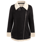 Faux Suede Fleece Lined Winter Coat deal