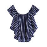 best Sweet Off-The-Shoulder Striped T-Shirt For Women