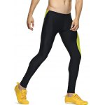 Color Splicing Skinny Elastic Waist Gym Pants for sale