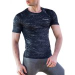 Quick-Dry Round Neck Printed Fitted Short Sleeve T-Shirt For Men