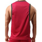Round Neck Edging Design Sports Tank Top for sale