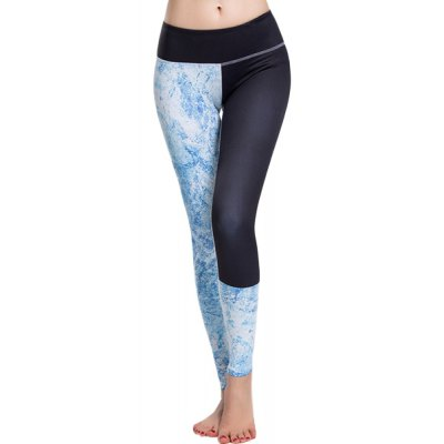 Elastic Waist Printed Sport Leggings For Women