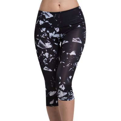 High Waist Printed Sport Leggings For Women