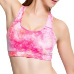 Active Style Printed Padded Sport Bra For Women photo