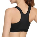 best Chic Plunging Neck Racer Back Solid Color Sports Bra For Women