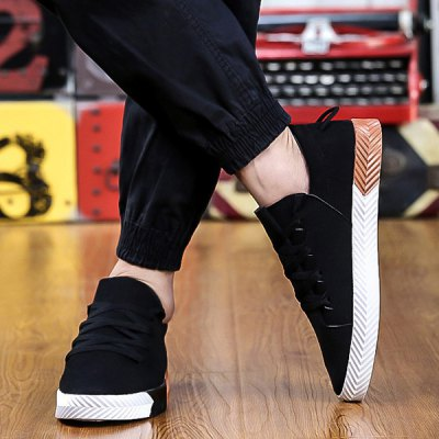 Suede Round Toe Casual Shoes