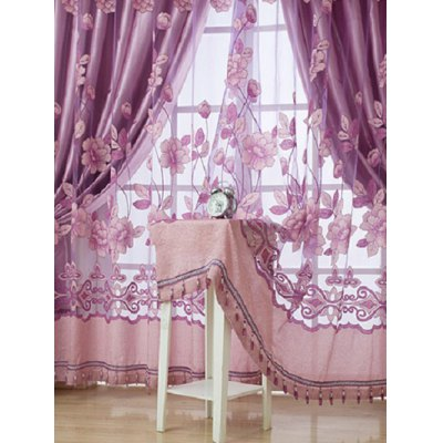 1Pcs Grommet Roller Floral Window TulleWindow Treatments<br>1Pcs Grommet Roller Floral Window Tulle<br><br>Applicable Window Type: French Window<br>Function: Translucidus (Shading Rate 1%-40%)<br>Installation Type: Exterior Installation<br>Location: Living Room,Window<br>Material: Voile Curtain<br>Opening and Closing Method: Left and Right Biparting Open<br>Package Contents: 1 x Window Tulle (Without Blackout Curtain )<br>Pattern Type: Floral<br>Processing Accessories Cost: Excluded<br>Style: Europe<br>Technics: Woven<br>Type: Tulle<br>Use: Cafe, Hotel, Office, Home<br>Weight: 0.3240kg