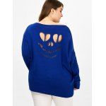 Plus Size Ribbed Cut Out Sweater for sale