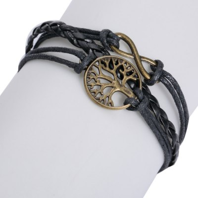 Life Tree 8 Shape Layered Bracelet