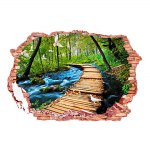 3D Stereo Nature Landscape Removable Wall Decals