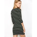 Bodycon Striped T-Shirt Dress for sale