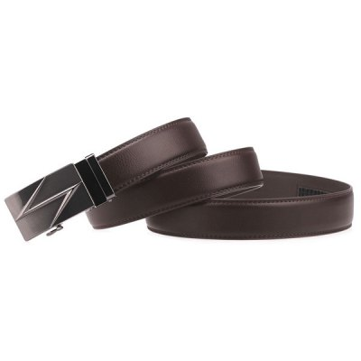 Lightning Auto Buckle Faux Leather Belt