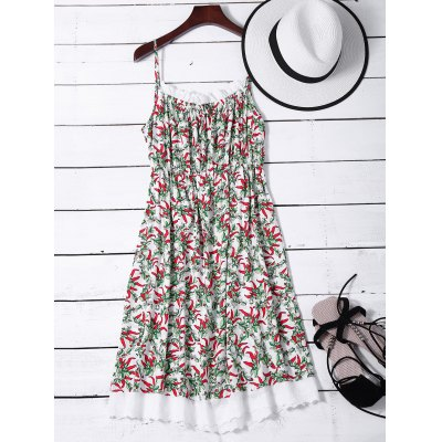 Lace Insert Floral Night Dress