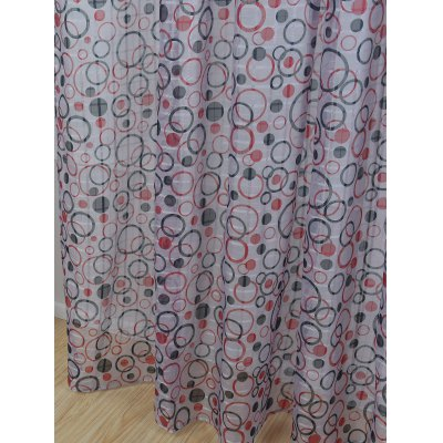 Multi Circle Embroidered Sheer Window Tulle CurtainWindow Treatments<br>Multi Circle Embroidered Sheer Window Tulle Curtain<br><br>Applicable Window Type: French Window<br>Function: Translucidus (Shading Rate 1%-40%)<br>Installation Type: Ceiling Installation<br>Location: Window<br>Material: Cloth Curtain + Voile Curtain<br>Opening and Closing Method: Left and Right Biparting Open<br>Package Contents: 1 x Window Curtain<br>Pattern Type: Geometric<br>Processing Accessories Cost: Excluded<br>Style: European and American Style<br>Type: Curtain<br>Use: Cafe, Home, Hotel, Office<br>Weight: 0.4050kg