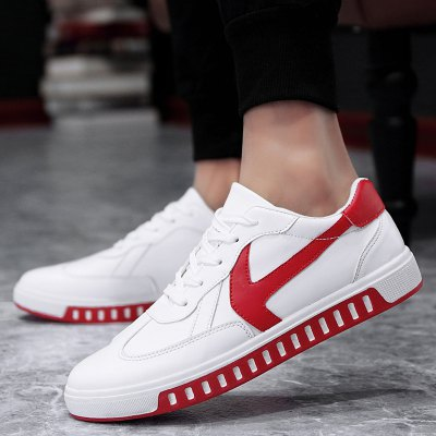 Lace Up PU Leather Casual Shoes