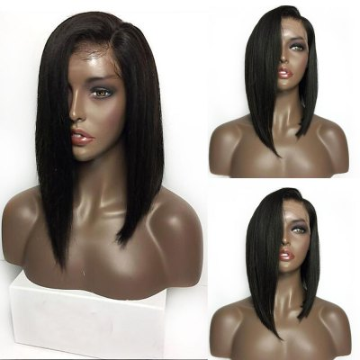Medium Sided Part Bob Straight Lace Front Synthetic Wig