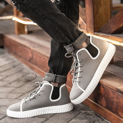 Tie Up Elastic Band Casual Shoes