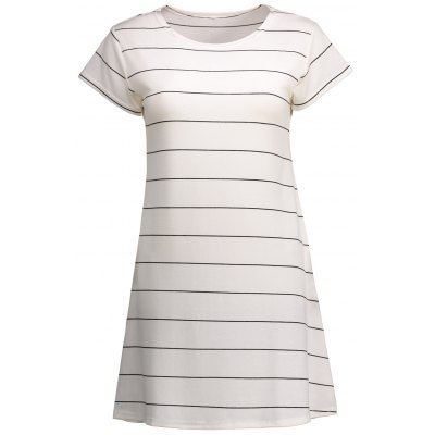 Mini Striped Shift T Shirt Dress