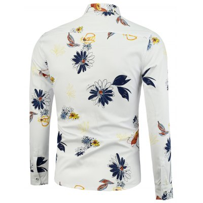 Turndown Collar Floral Printed ShirtMens Shirts<br>Turndown Collar Floral Printed Shirt<br><br>Collar: Turndown Collar<br>Material: Cotton, Polyester<br>Package Contents: 1 x Shirt<br>Shirts Type: Casual Shirts<br>Sleeve Length: Full<br>Weight: 0.2310kg
