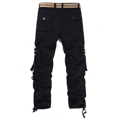 Metal Buckle Pockets Embellished Cargo PantsMens Pants<br>Metal Buckle Pockets Embellished Cargo Pants<br><br>Closure Type: Zipper Fly<br>Fit Type: Regular<br>Front Style: Pleated<br>Material: Cotton, Polyester<br>Package Contents: 1 x Pants<br>Pant Length: Long Pants<br>Pant Style: Cargo Pants<br>Style: Fashion<br>Waist Type: Mid<br>Weight: 0.7730kg<br>With Belt: No
